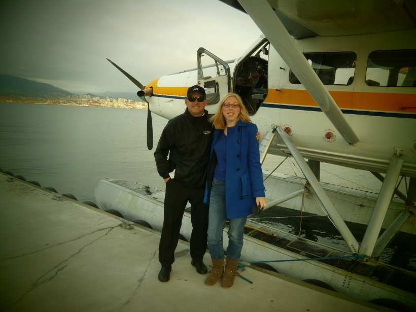 Pilot Dan and I after a smooth tour over Vancouver Harbour.