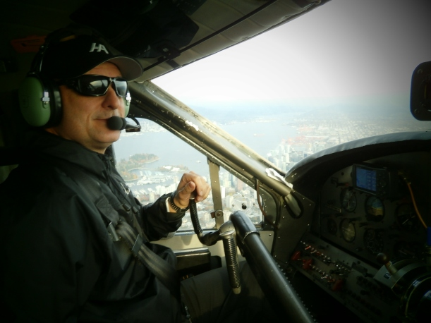 Picture of pilot Dan taken from the 'co-pilot seat'