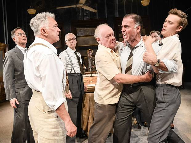 Jeff Fahey in Twelve Angry Men in the Garrick Theatre - London's West End (c) Independent.co.uk