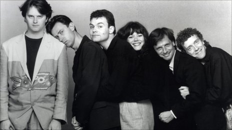 The Comedy Store Players in the early 90s (from left: Paul Merton, Lee Simpson, Neil Mullarkey, Josie Lawrence, Richard Vranch, Jim Sweeney)