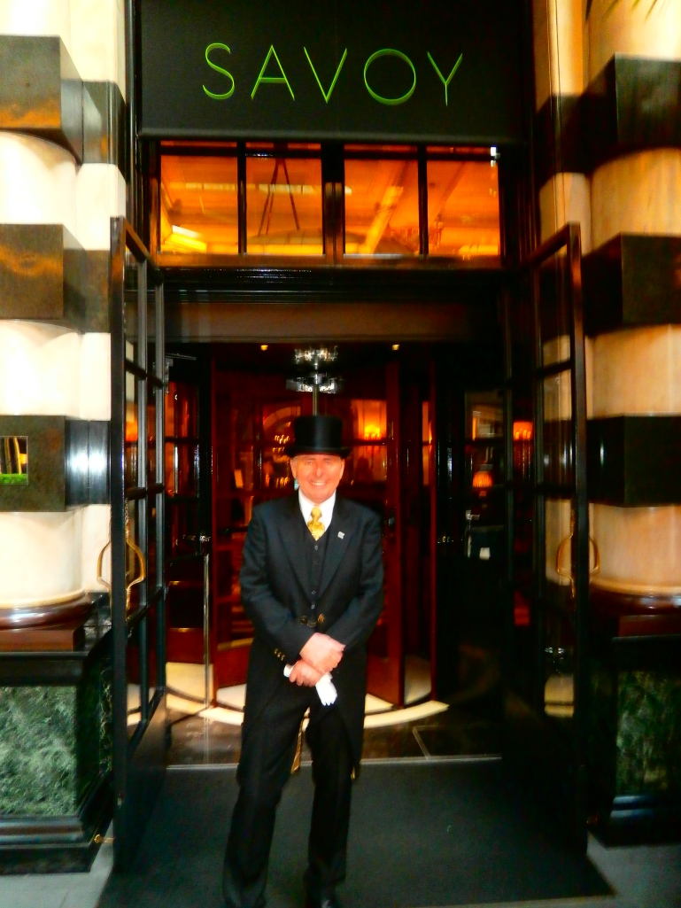 Doorman Tony Harvey at the Savoy Hotel in London