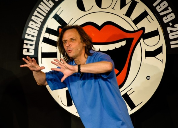 Richard Vranch on stage in The Comedy Store (c) The Comedy Store