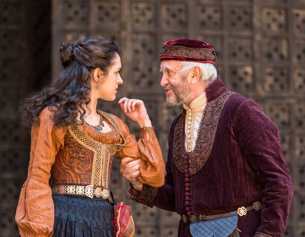 The Merchant Of Venice - Jonathan Pryce and real life daughter Phoebe Pryce (c) independent.co.uk
