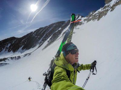 Ted Mahon in ski gear. (c) Stuckintherockies.com.
