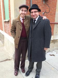 Radek Lord and Eddie Marsan on the set of A Kind of Murder (c) Radek Lord