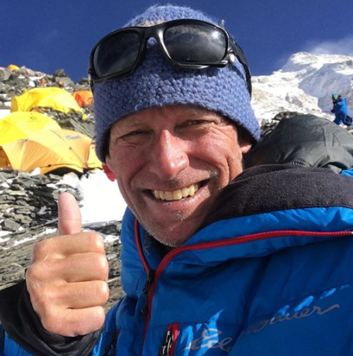 Selfie by Neal Beidleman at 7700 metres on Mt. Everest (c) N. Beidleman